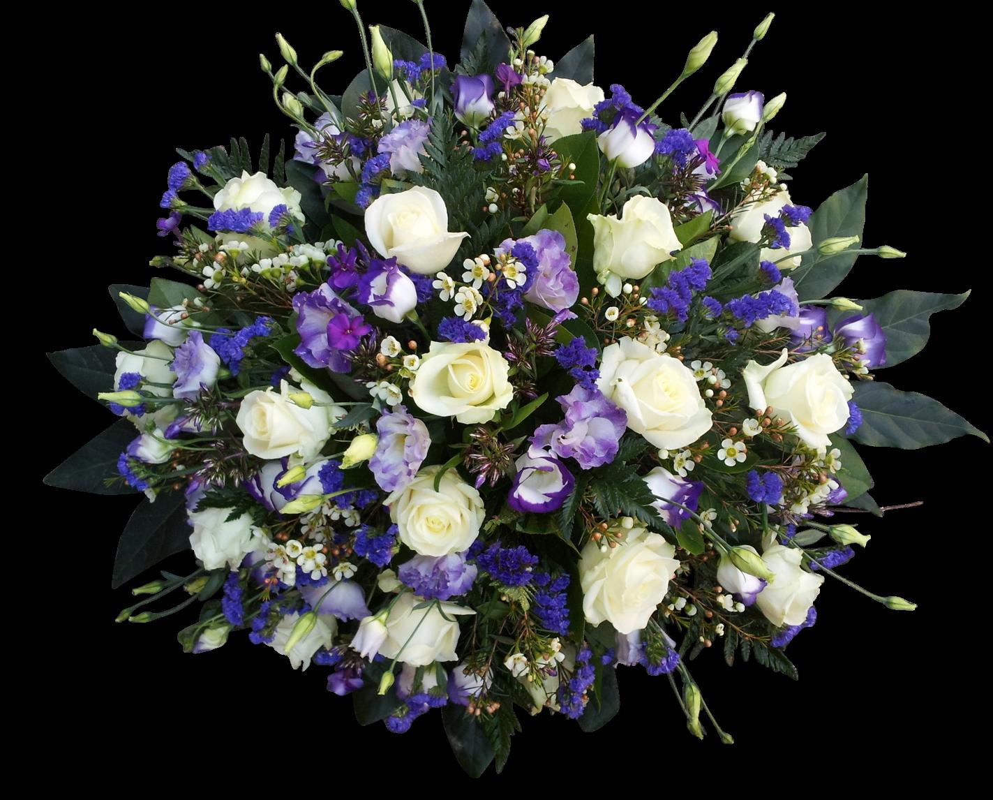 rouwbiedermeier paars wit