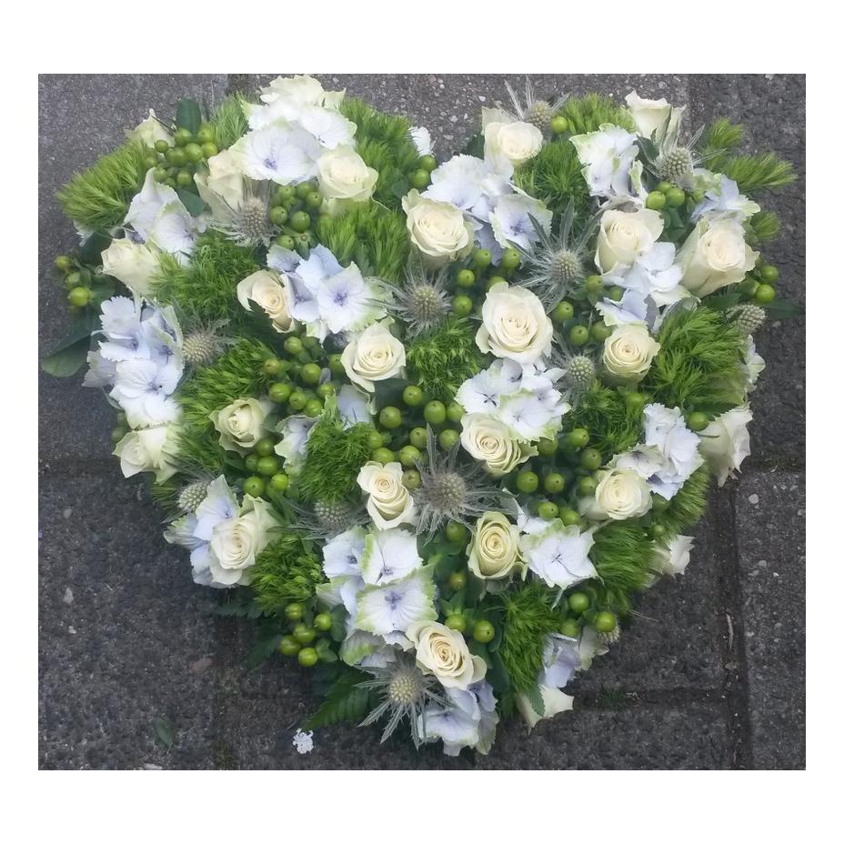 rouwhart met hortensia