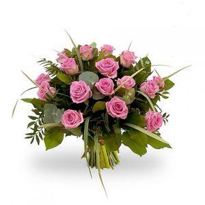 boeket roze rozen