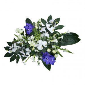 Rouwstuk modern bleu vanda